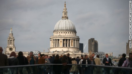 St. Paul's Cathedral in central London.