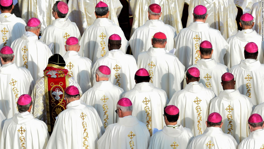 Cardinals attend Mass at St. Peter's Square in the Vatican on Sunday, November 20.