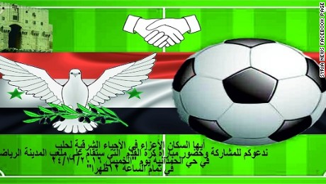 Syrian Government Invites Aleppo Rebels To Football Match Cnn