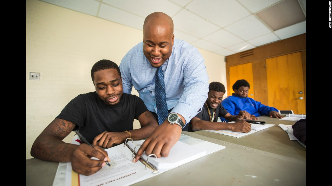 """My goal when I started the Dovetail Project was to break the cycle. My father grew up without having his father around,"" Smith said. ""The young men in the class -- they're seeking their identity because they don't know who they get that identify from."""