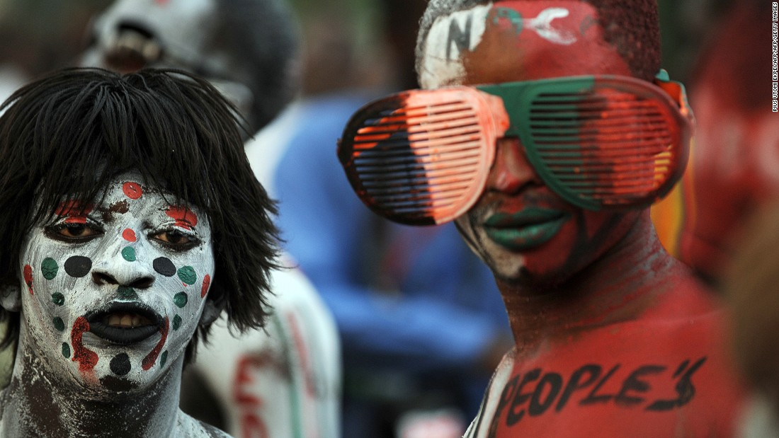 On average 66% of citizens in Ghana have voted in elections since independence in 1957. <br /><br />Pictured: NDC supporters attend a rally in Accra in December 2012 to cheer re-elected President Mahama as he accepts his mandate.