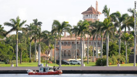 PALM BEACH, FL - NOVEMBER 24:  A US Coast Guard boat passes through the Mar-a-Lago Resort where President-elect Donald Trump will be spending Thanksgiving on November 24, 2016 in Palm Beach, Florida. The Trump family has spent many of their holidays at their South Florida home and security is expected to be tight in the area.  (Photo by Gerardo Mora/Getty Images)
