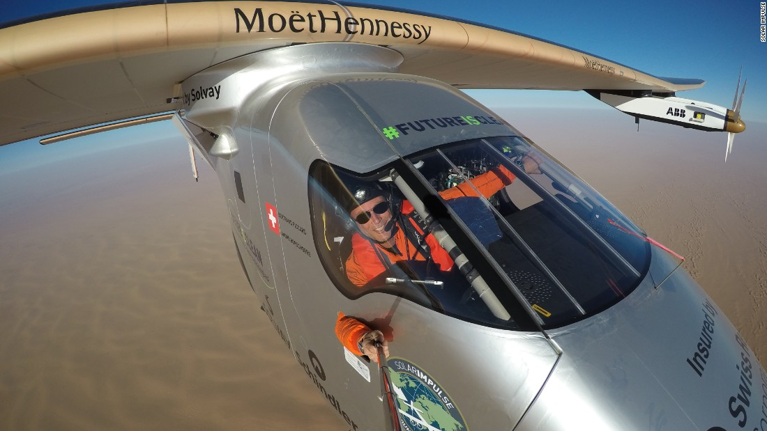 The two pilots took turns in the single-seater 3.8m³ cockpit. Between them, Piccard and Borschberg have broken eight world records and have 11 still pending.