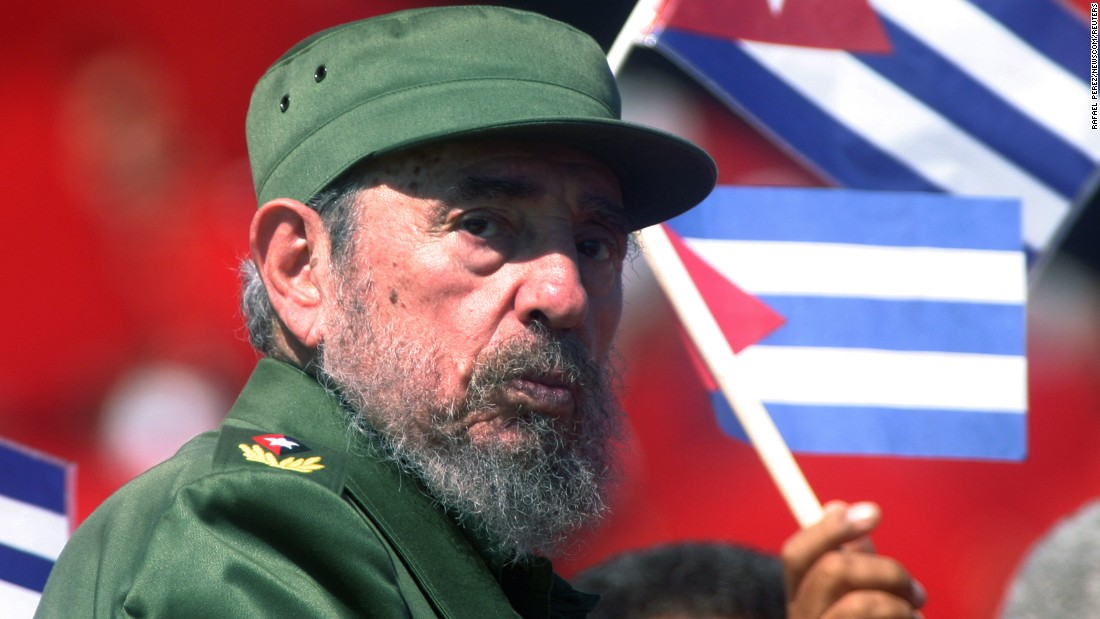 Castro at the May Day commemoration of Revolution Square in Havana in 2004. He held tightly to his belief in a socialist economic model and one-party Communist rule, even after the Soviet Union's end and most of the rest of the world concluded state socialism was an idea whose time had passed.