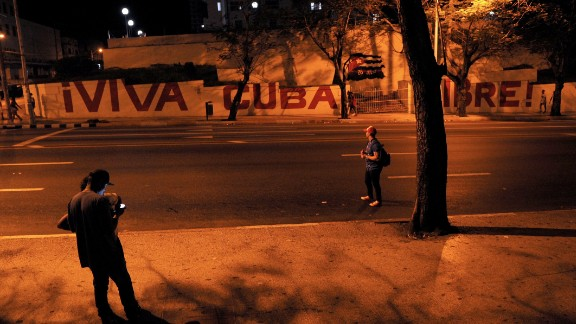 The streets are quiet in the Cuban capital on November 26 following the announcement of Castro's death the evening before on national TV.