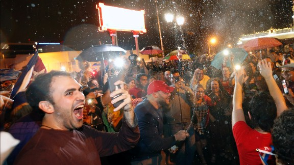 Celebrations continue into the early morning November 26 in Miami's Little Havana neighborhood. Few who came to the United States in the late '50s and early '60s  believed Castro would hang on to power for so long, only ceding the presidency to his brother Raul in recent years.