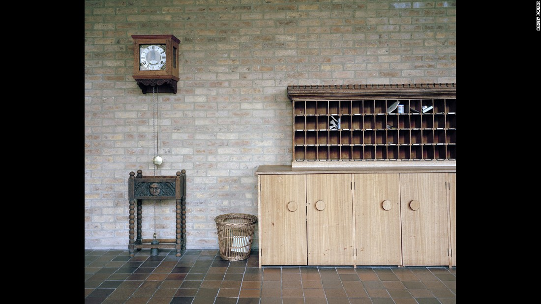 A postal cabinet in Downside Abbey.