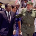 fidel castro with mugabe