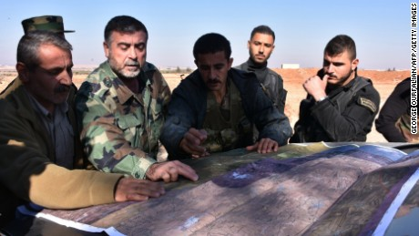Syrian pro-government fighters planning their push toward eastern Aleppo on Friday.