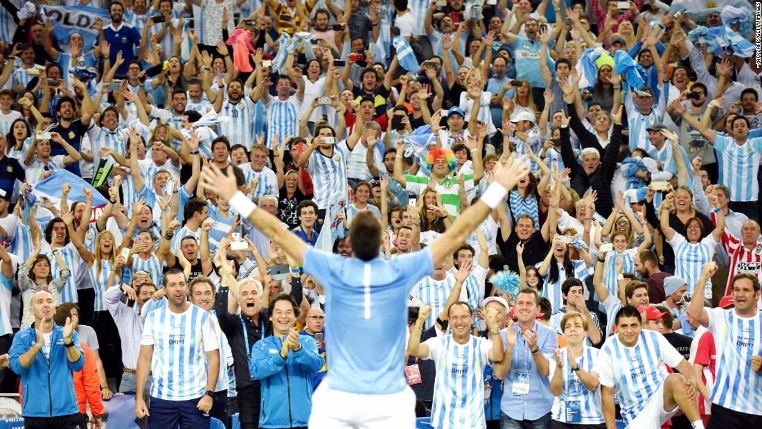 "Argentina won its <a href=""http://edition.cnn.com/2016/11/27/tennis/davis-cup-tennis-argentina-croatia-sunday/"">first Davis Cup title </a>when, led by Juan Martin del Potro, it rallied to beat Croatia 3-2 in the final. Argentina had lost its four previous finals."