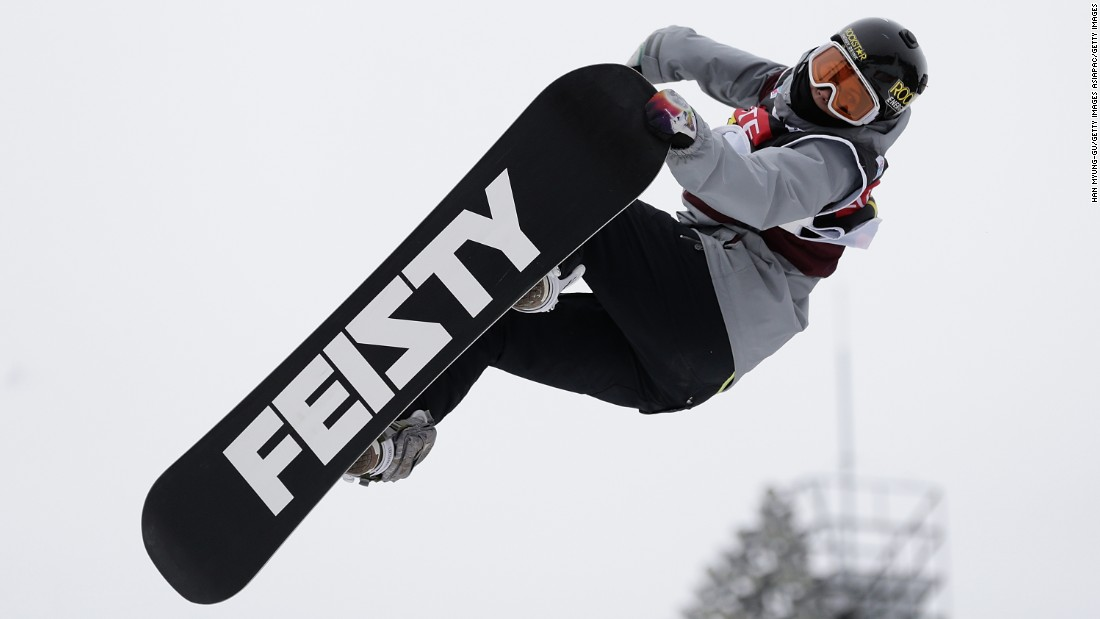 Cheryl Maas, of the Netherlands, in action at the Alpensia Ski Jumping Center. Pyeongchang, in Gangwon province, is in South Korea's Taebaek Mountains region.