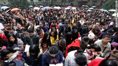 Hundreds of thousands of people take the Chinese civil service exam every year.