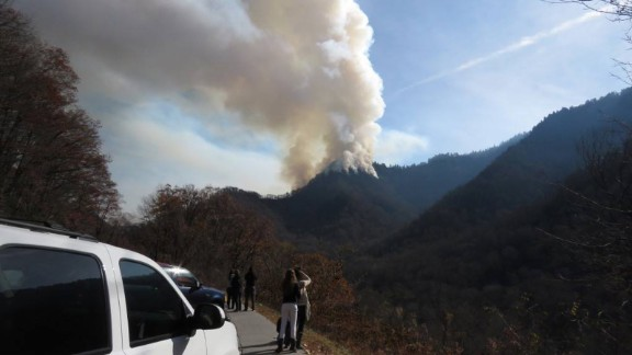 Officials from the Great Smoky Mountains National Park reported the closing of roads and several trails near Gatlinburg on November 28.