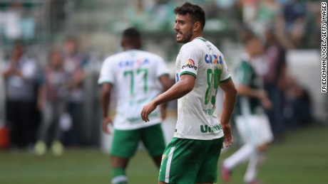 Alan Ruschel was one of the players to survive the crash.