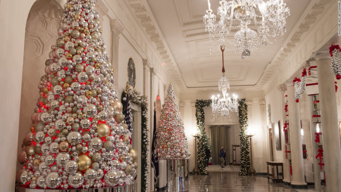 christmas trees fill cross hall on november 29 2016 - Christmas Hall Decorations