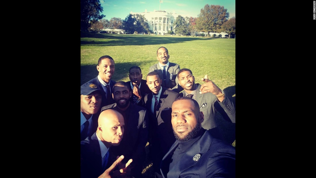 """Never thought in a million years I would stand in the front lawn of the White House!"" <a href=""https://www.instagram.com/p/BMpoHsXhkY2/"" target=""_blank"">said basketball star LeBron James,</a> who was being recognized Thursday, November 10, with the rest of his Cleveland Cavaliers teammates. ""Beyond blessed."""