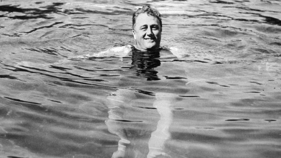 Franklin D. Roosevelt, the 32nd president, was not very active because of polio, but he enjoyed swimming.