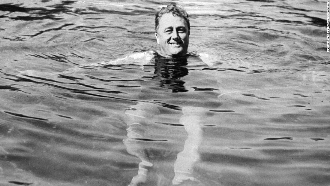 "Franklin D. Roosevelt, the 32nd president, was not very active because of polio, but he enjoyed <a href=""https://www.whitehouse.gov/1600/presidents/franklindroosevelt"" target=""_blank"">swimming</a>."