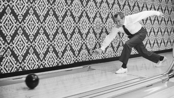 Richard Nixon, the 37th president, enjoyed bowling so much that he and his wife had a one-lane bowling alley constructed in the White House.