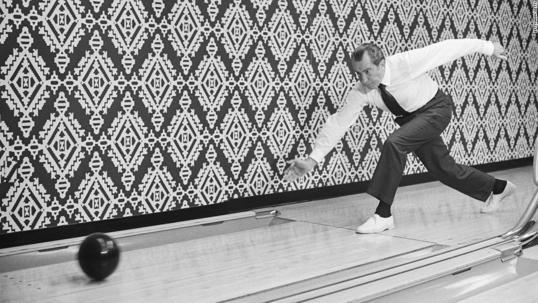 "Richard Nixon, the 37th president, enjoyed bowling so much that he and his wife had a <a href=""http://www.whitehousemuseum.org/floor0/bowling-alley.htm"" target=""_blank"">one-lane bowling alley</a> constructed in the White House."