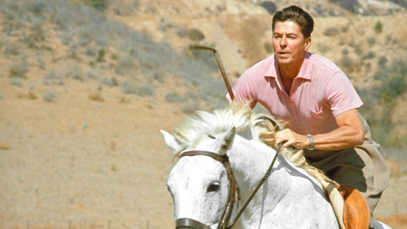 Ronald Reagan, the 40th president, enjoyed horseback riding. He suffered minor injuries when he was thrown from a horse in 1989. He also had a bedroom converted into an exercise room in the White House.