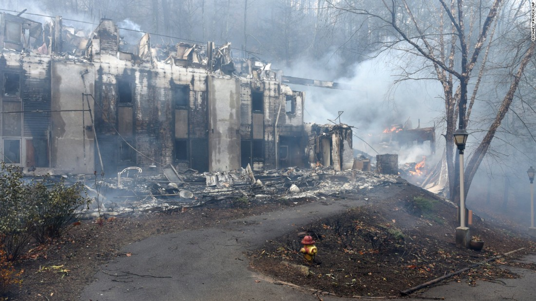 Two dormitories at the Arrowmont School of Arts and Crafts were damaged from the wildfires that flared near Gatlinburg on November 29.
