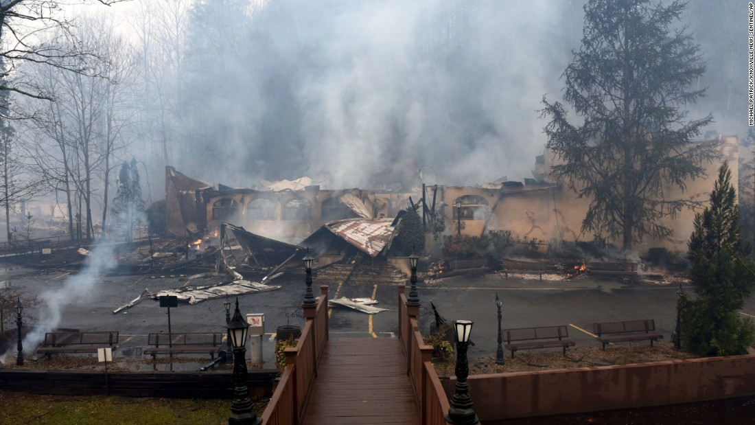 An Alamo Steakhouse was one of the Gatlinburg businesses destroyed by fire.