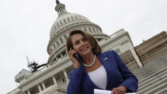 House Minority Leader Nancy Pelosi (D-CA) arrives for the ÒFirst Nail CeremonyÓ September 21, 2016 outside the U.S. Capitol in Washington, DC. The ceremony marked the official launch of construction on the Inaugural platform where the next President of the United States will take the oath of office on Friday, January 20, 2017.  (Photo by Win McNamee/Getty Images)