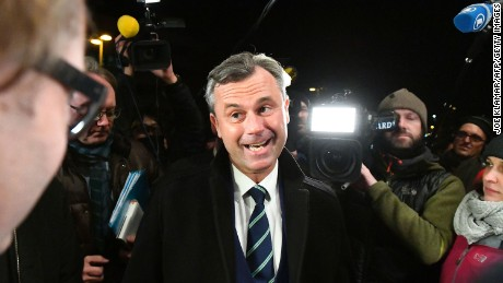 Norbert Hofer narrowly lost the presidential election in May. His party successfully fought for a re-run of the voting.