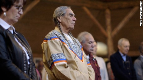 Elder Wally Swain brings ancient wisdom to the gathering about climate change.