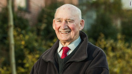 Joe Bartley, 89, who placed an advertisement in the Torquay Herald Express newspaper looking for a job.