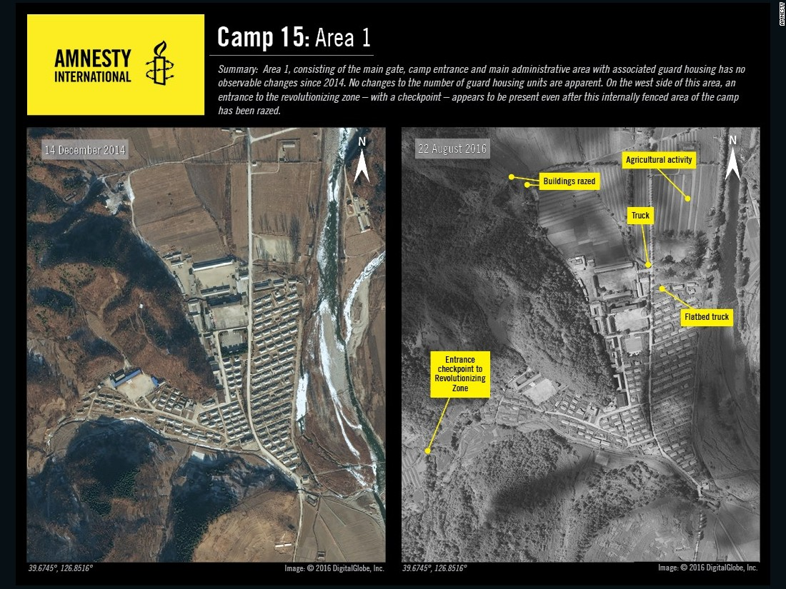 Activity is ongoing at Camp No. 15, according to Amnesty.