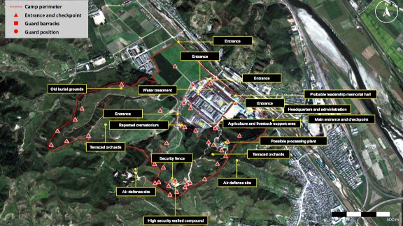 Overview of North Korean prison camp No. 25, image taken in September 2015.