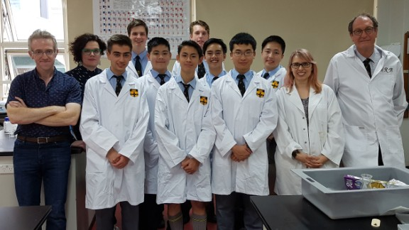 The dedicated young chemistry students worked through their lunch breaks and before and after school.