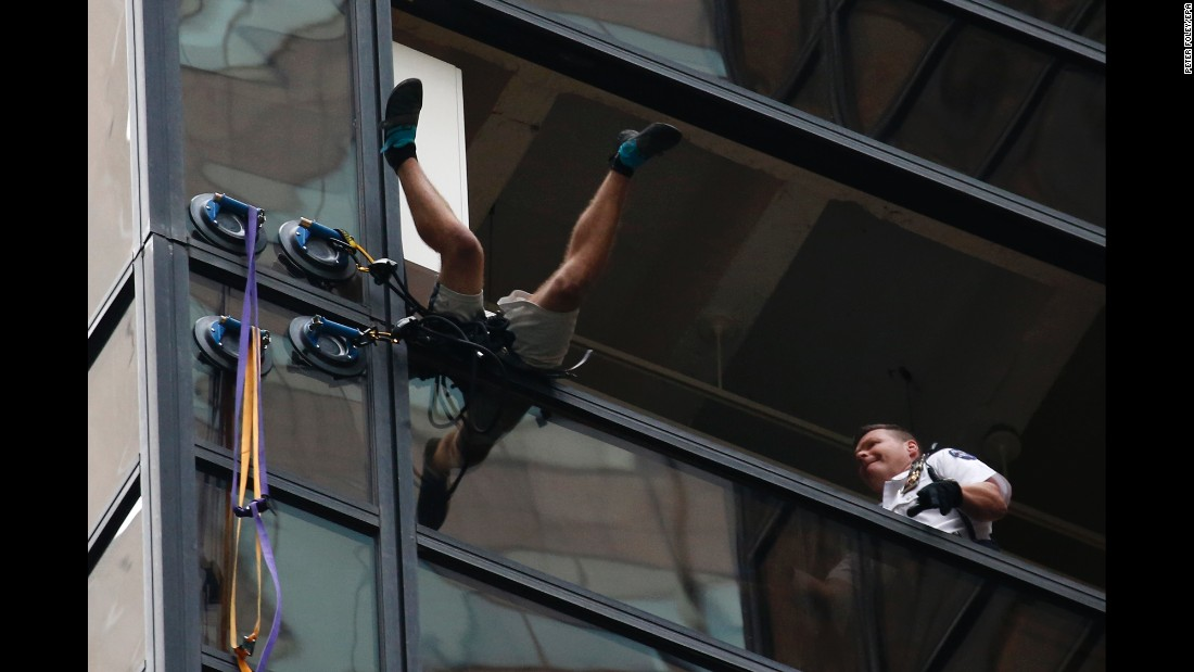 "<strong>August 10:</strong> New York City police grab a man who was <a href=""http://www.cnn.com/2016/08/10/politics/trump-tower-suction-cups/"" target=""_blank"">climbing the Trump Tower </a>using giant suction cups. The 19-year-old was arrested and taken to Bellevue Hospital for a psychological evaluation, according to a law enforcement official. He was later charged with reckless endangerment and criminal trespassing."