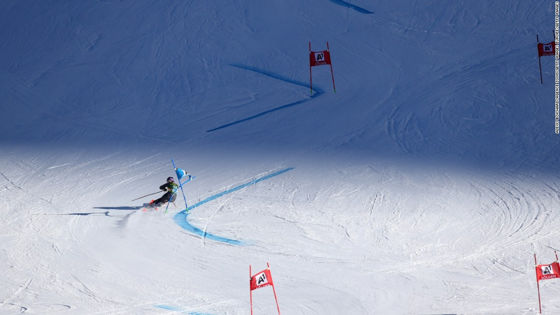 Without the stress of travel and training, race days usually offer more time for mental reflection, exploring a resort's trails, and getting in the zone. It's one of the most appealing aspect for many skiers; the adrenaline rush of events like the slalom (pictured). But then there's the ever-present press work and interviews ...  <br />