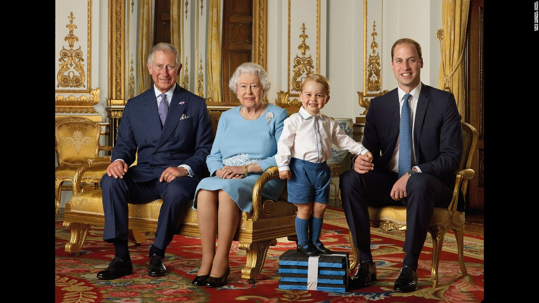 "<strong>April 19:</strong> Four generations of British royalty are seen in this photo released by the Royal Mail, which put out a new set of stamps to commemorate the 90th birthday of <a href=""http://www.cnn.com/2013/03/03/europe/gallery/queen-elizabeth-ii/index.html"" target=""_blank"">Queen Elizabeth II.</a> Seen with the Queen, from left, are her son Prince Charles; her great-grandson, Prince George; and her grandson Prince William."