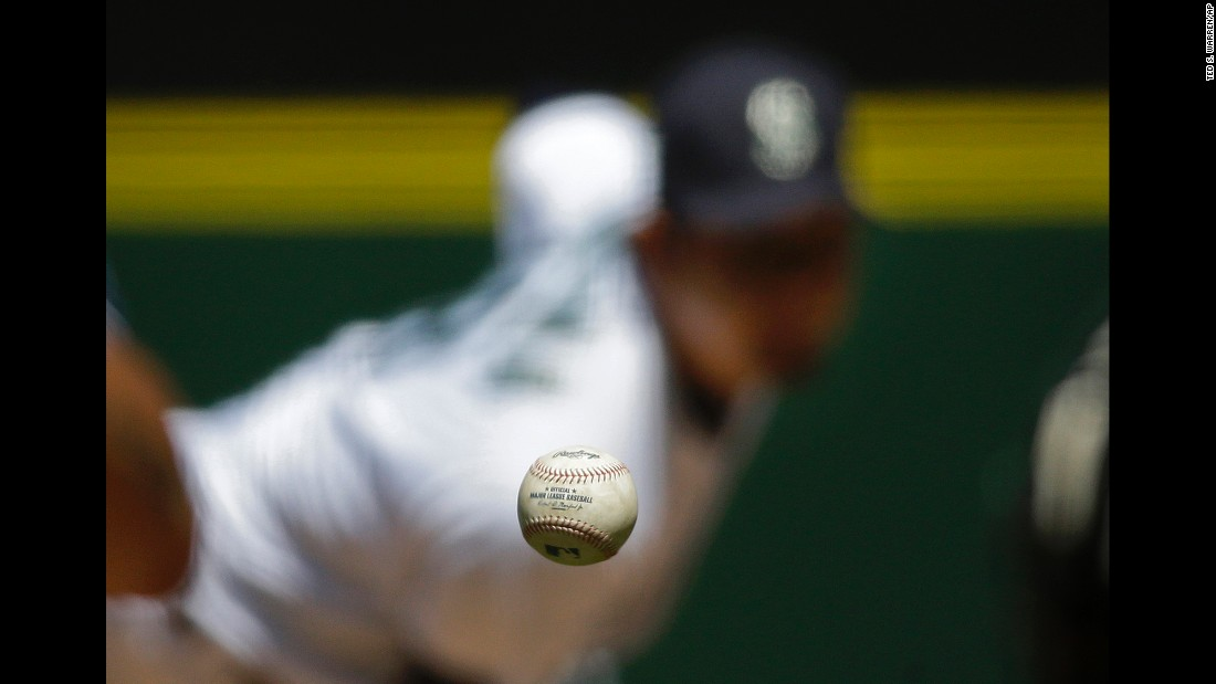 Seattle's Hisashi Iwakuma throws a pitch to a San Diego batter during a Major League Baseball game on Tuesday, May 31.