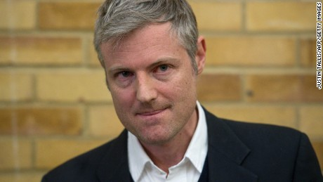Independent candidate Zac Goldsmith was defeated in a shock result.
