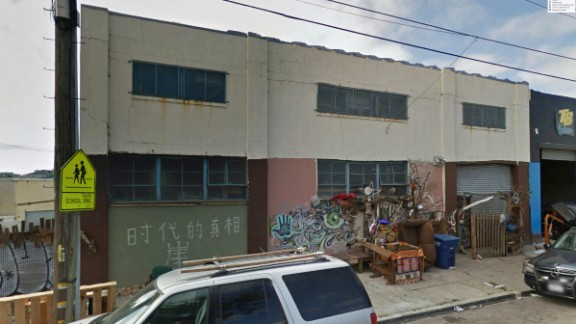 Before the fire, an undated photo from Google Earth shows the building at 1305 31st Ave. in Oakland.