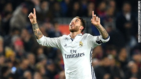 85d4c76f3d0 El Clasico  Barcelona despair as Sergio Ramos salvages point for Real