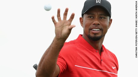 Tiger Woods mixed 24 birdies with a string of dropped shots in his comeback tournament in the Bahamas.