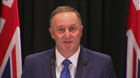 New Zealand PM John Key resigns