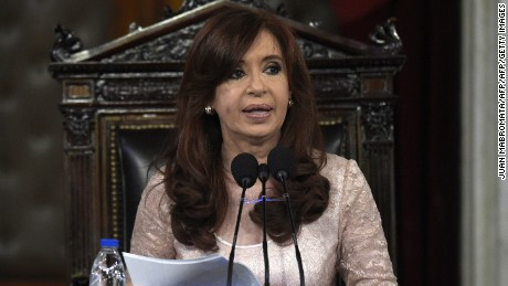 Argentine President Cristina Fernandez de Kirchner delivers a speech during the inauguration of the 133th period of ordinary sessions at the Congress in Buenos Aires, Argentina on March 1, 2015. AFP PHOTO / Juan Mabromata        (Photo credit should read JUAN MABROMATA/AFP/Getty Images)