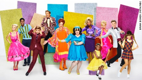 "The cast of NBC's ""Hairspray Live!"""