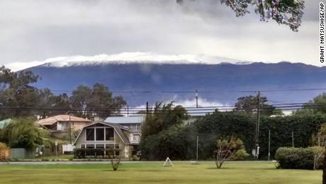 The summit of Mauna Kea on Hawaii's Big Island was covered in snow Thursday.