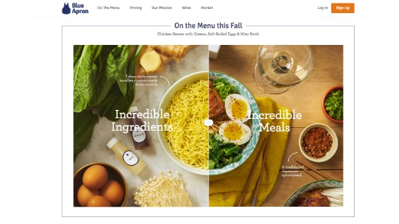 Blue Apron: For two people, a one-week meal plan is $59.94. Visit  blueapron.com and select the type of meal plan you want to send and the delivery date. Shipping is free,