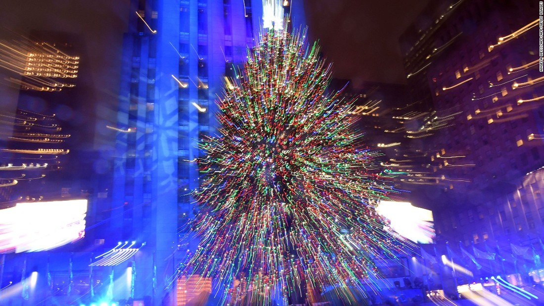 A glittering presence in New York -- the annual Rockefeller Center lighting ceremony.