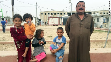 Bashir Mohammed Khadir escaped his hometown of Tal Afar with his wife and children.