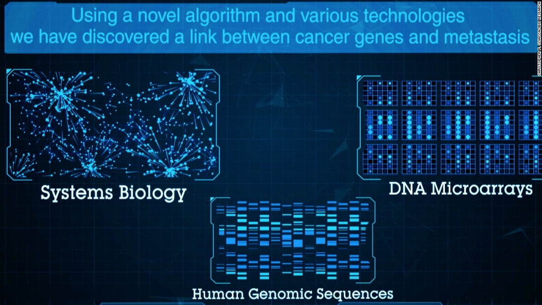 """The knowledge that low expression of DARC might influence breast cancer outcomes, especially in some breast cancer patients means that in future it could potentially be used for personalizing therapy or precision medicine,"" says Siwo. <br />Pictured: a screen grab from the findings presented to the American Society for Human Genetics symposium."